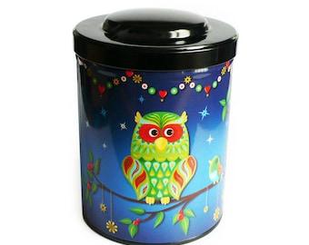 """""""OWL"""" coffee or tea mixed gift box, kitchen storage"""