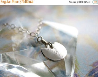 SALE Dainty Tulip Sterling Silver Necklace