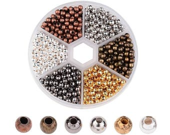 Metal Spacer Beads Spacers Round Spacer Beads Ball Spacer Beads 4mm Beads 4mm Spacer Beads Assorted Beads BULK Beads Wholesale Beads 948 pcs
