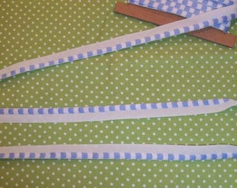3 yards of  Woven Check Trim with Lip for  Doll Clothes