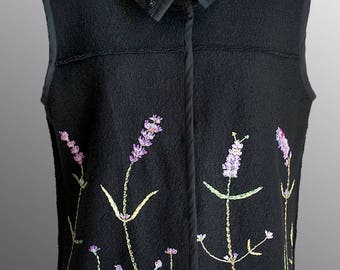 Hand Embroidery Wool Vest