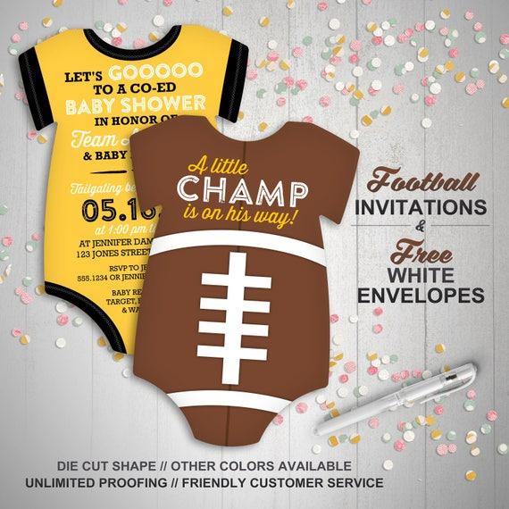 Football Invites Tailgate Baby Shower Invitations Sports