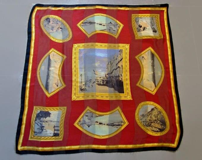 Paloma Picasso Vintage Silk Scarf, 100% Pure Silk