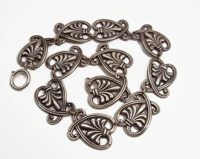 Vintage MARGOT DE TAXCO Sterling Silver Necklace 5107