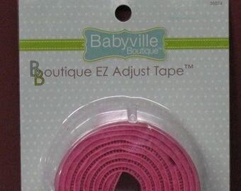 Babyville Boutique EZ Adjustable Tape Pink