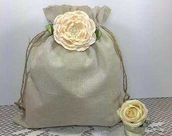 2 Wedding money dance bag, Rustic wedding dance bag, Dollar dance bag, Wedding, Burlap wedding, Flower girl, Barn wedding, Wedding bag.
