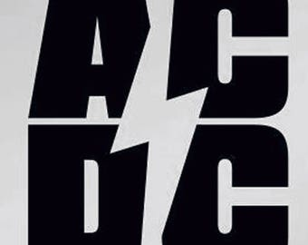 AC / DC Logo vinyl decal