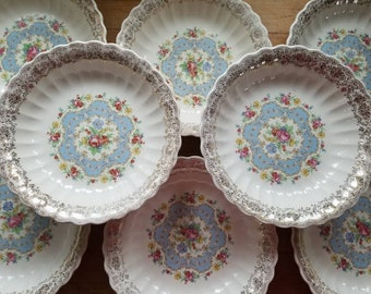 American Limoges, Lyric Pattern Coupe Soup Bowls