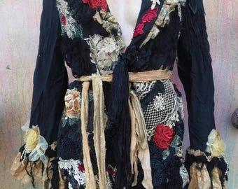 20%OFF wildskin coat, bohemian jacket, suit jacket, gypsy jacket, gothic jacket, pinstripe jacket,boho coat, bohemian coat, mori , winter