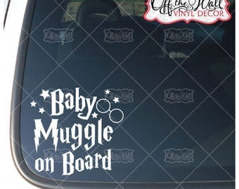 """Harry Potter Inspired """"Baby Muggle on Board"""" Vinyl Car/Truck Decal Sticker"""
