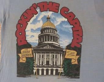 DOOBIE BROTHERS Santana 1981 tour T SHIRT original true vintage