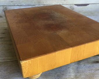 Vintage Butcher Block Counter Top Cutting Board Chop Block