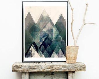 A2 print, A4 print, 11x14 print, 16x20 print, A2 poster, A4 poster, 5x7 print, blue art, abstract art, graphic design art, kitchen art