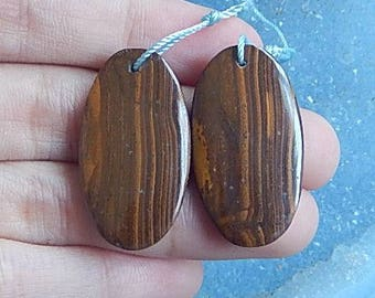 Boulder Opal Gemstone Earring Bead,30x17x4mm,7.83g(E399)