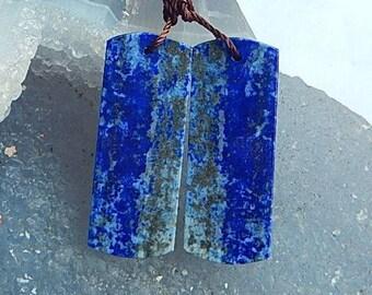 Lapis Lazuli Gemstone Earring Bead,34x13x3mm,8.3g(E865)