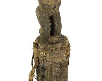 Baule Fetish Female on Pedestal Ivory Coast African Art 113323