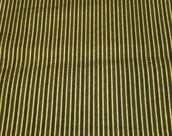 Green Stripe Holiday fabric by the 1/2 yard