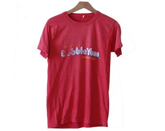Vintage 70's-80's Bubble Yum T-shirt Red Size Medium