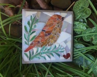 Outdoor mosaic art - Bird