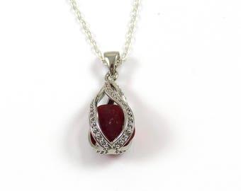 Crimson Red Sea Glass Locket Necklace, Swirl Locket, Sea Glass Necklace, The Strandline, Sea Glass Jewellery