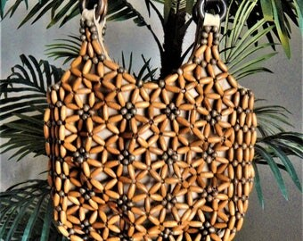 Nine West Wood Beaded Purse