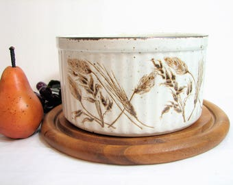 Midwinter Stonehenge WILD OATS Souffle Dish, Serving Bowl ... Vintage Stoneware Dishes, Bakeware, WR Midwinter Ltd. England