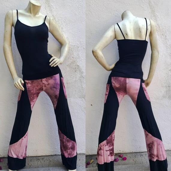 Womens Pants - Yoga Pants - Gothic Pants - Hand Dyed Pants - Halloween Pants - Dance Pants