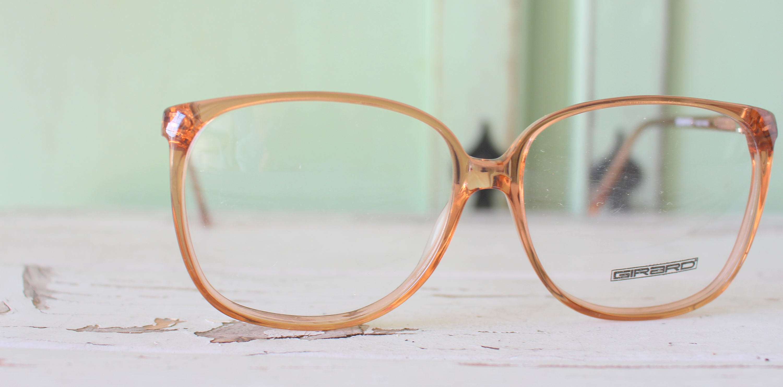 f17d7efbcc7 1970s RETRO Beige Glasses...NOS. new old stock. optical. dapper