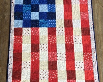 American Flag Wall Hanging, Patriotic, Hand Made