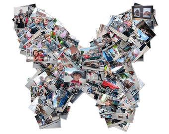 Personalized Web Butterfly Photo Collage | Facebook Profile Image | Your Images in a Butterfly Shape | Digital Download | Gift