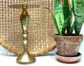 Brass Pillar Candleholder, Large 12 Inch Vintage Hosley Candlestick for 6 Inch Candle