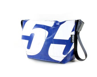 Large Messenger Bag made from Recycled Truck Tarp, Man Bag, Satchel Style Bag, MacBook Bag (61.03)