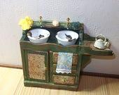 Dollhouse Miniature kitchen Sink, scale 1/12