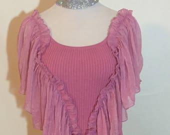 Gorgeous Magenta Bohemian Isabella Rodriguez Summer Blouse Moving Sale