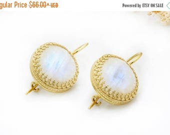 SUMMER SALE - Moonstone earrings,rainbow earrings,gold earrings,statement earrings,faceted earrings,dangle earrings