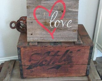 Wood Sign/ Wooden Love Sign/ Aged Wooden Sign/ Wedding Sign