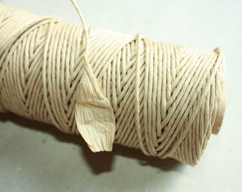 By Yards from Spool Elegant Cardboard Twisted Paper Cord- Eco Materials-for weddings,crafting,gift wrapping,packaging-color Cardboard Nr. 1.