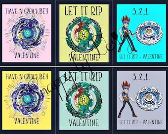 Boys & Girls Valentines - Beyblades