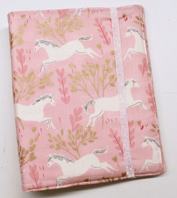 Pink Gold Unicorns WIP Tracker Cover and Binder