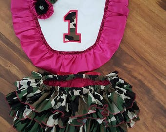 Pink and Camo birthday outfit