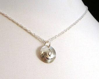 SALE CIJ2017 Simple Unitarian Universalist Flaming Chalice Half Inch Sterling Silver Necklace