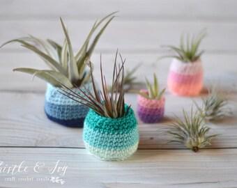 Air Plant Pots Crochet PATTERN PDF DOWNLOAD