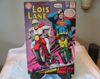 """Vintage DC Comic Book #83, 1968, Superman's Girlfriend Lois Lane """"Witch on Wheels"""", Comic Book Collector,"""
