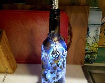 Steampunk Bottle lamp