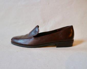 Vintage Leather Loafer Flats