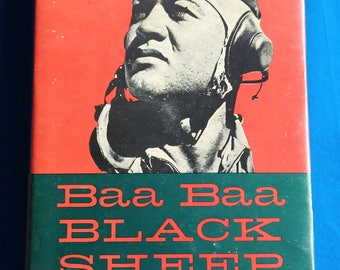 Baa Baa Black Sheep by Pappy Boyington Autographed Copy WWII Military History of Black Sheep Squadron Fathers Day Gift Guide Men