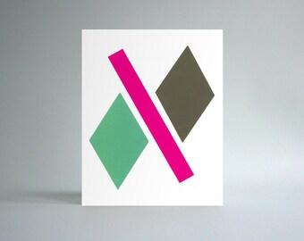 Untitled, Hand-printed Silkscreen Art Print