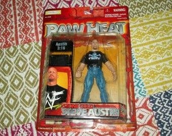 90s WWE WWF Stone Cold Steve Austin Raw Heat figure with chair vintahe pro wrestling