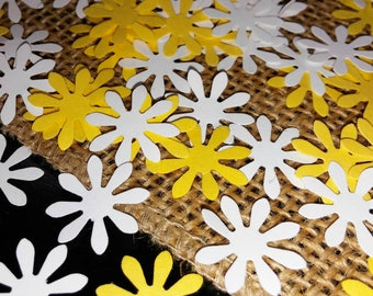 150 Daisy Table Confetti Birthday  Baby Shower Bridal Shower Flower Party