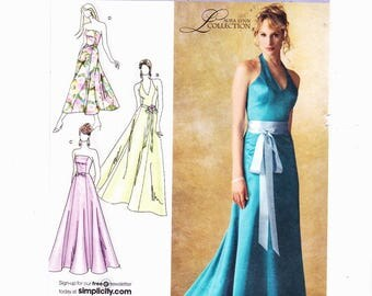 Simplicity 3784 Szs 6-14 Misses Lined Dress In Three Lengths With Bodice Variations Also Miss Petite Wedding UNCUT